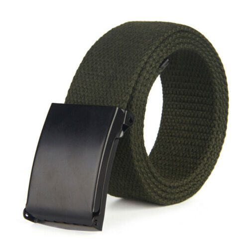 Unisex Men Casual Waistband Canvas Belts Military Web Belt Automatic Buckle New
