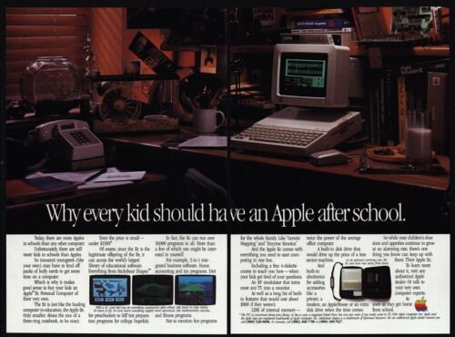 Every Kid Should Have An Apple 1984 APPLE IIc Personal Computer VINTAGE AD