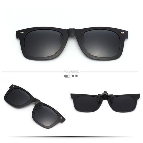 New Design Polarized UV400 Len Flip-up Clip-on Sunglasses Mirror Glass UK Seller