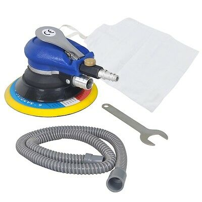 "Hug Flight 150mm 6"" Air Random Orbital Palm Sander Dual Action Vacuum Hose CE"