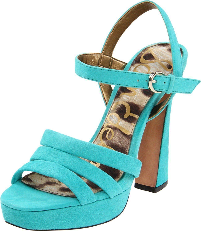 Sam Edelman Taryn  bluee Suede Platforms Heels shoes 9.5 New