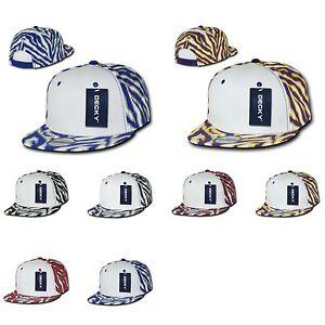 1 Dozen Decky Ziger Zebra Animal Print Flat Bill Hats Caps Baseball ... 052d6a3a3ab5