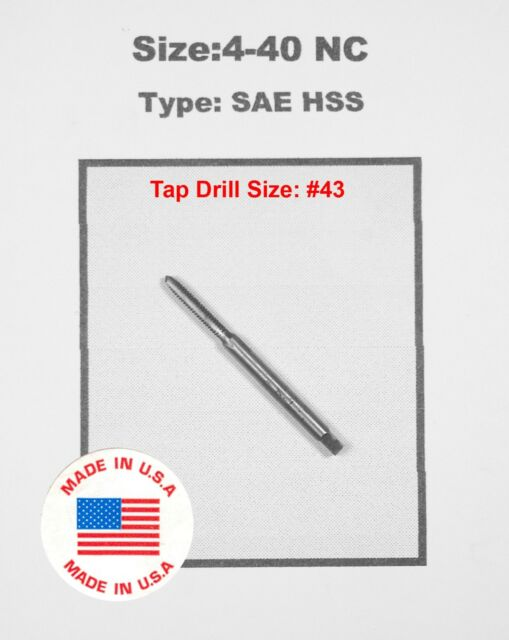 3-48 NC #3 x 48 TPI SAE Bottom Bottoming Tap HSS Greenfield Morse others