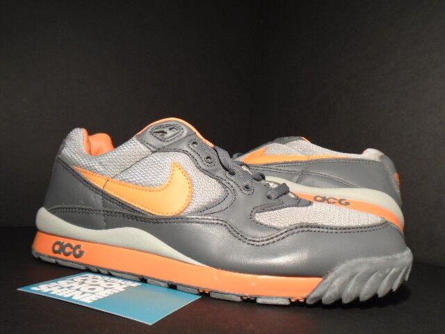 2003 Nike Air WILDWOOD ACG HUMARA GRAPHITE GREY ORANGE MAGNET 305289-081 8.5 10