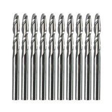 10PCS 17mm 1/8'' 2 Flutes Carbide Ball Nose End Mills CNC Tool Engraving Bits