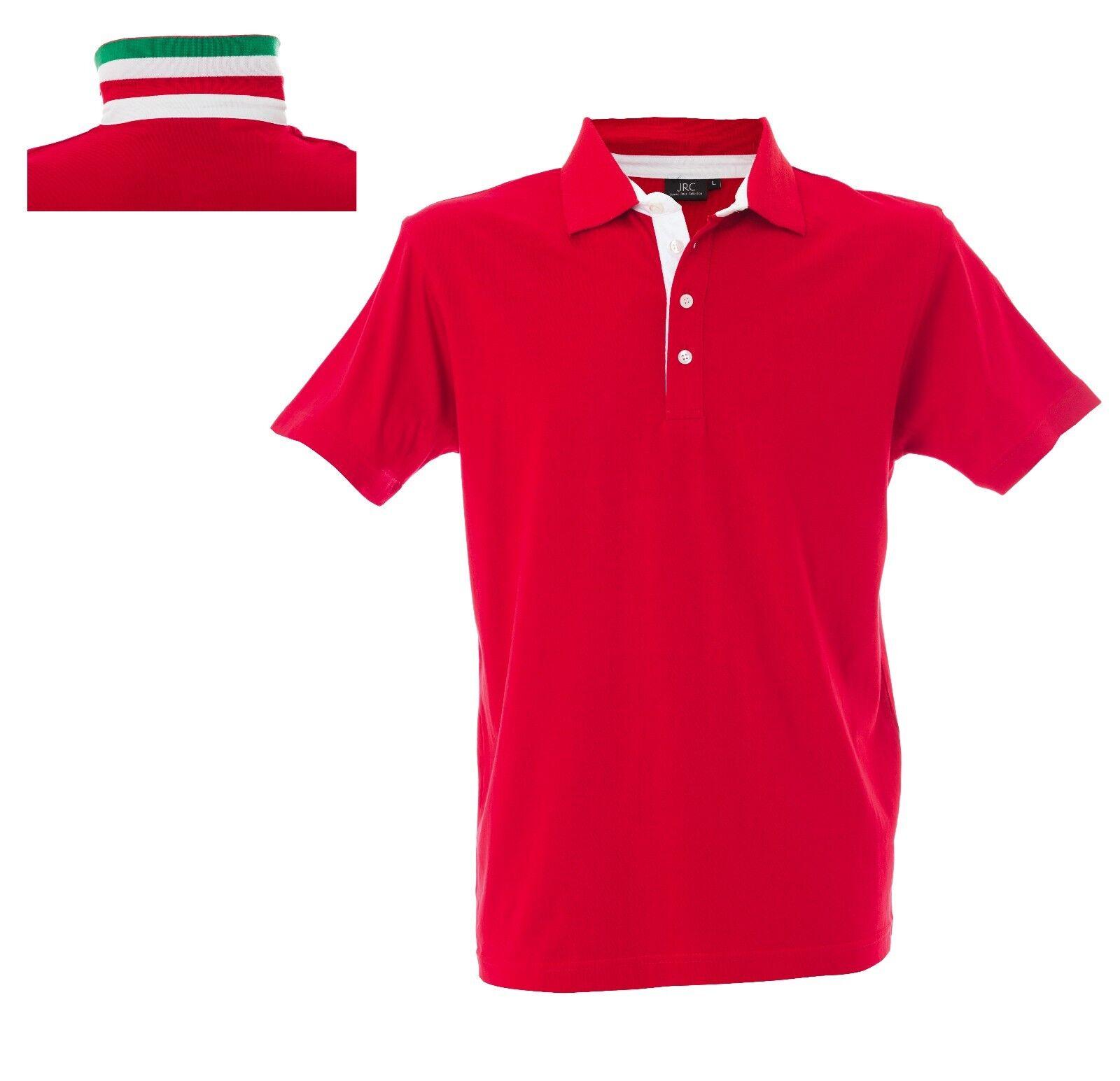RICCIONE Polo manica corta jersey in jersey corta CON COLLETTO STAMPATO COLORI ITALIA dfb33c