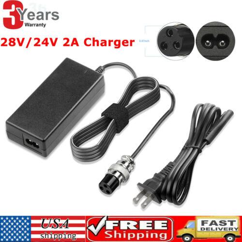 28V 2A Battery Charger For Electric Razor Scooter E225S E300S E325S MX350 PR200