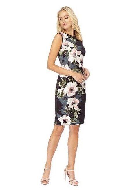 32c05b67885 The Collection Multi‑Coloured Floral Print Scuba Pencil Dress Size 14