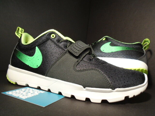Nike Dunk AIR TRAINERENDOR SB TRAINER ENDOR 1 STUSSY BLACK VOLT WHITE GREEN 9.5