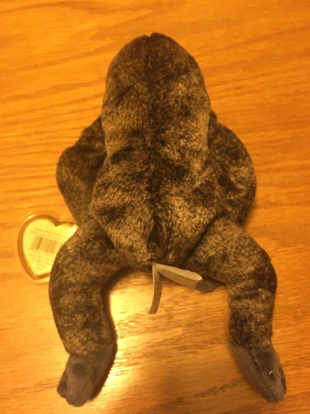 RARE TY Beanie Baby SLOWPOKE with SINGLE SINGLE SINGLE FLAP TUSH TAG & ERRORS 35c803