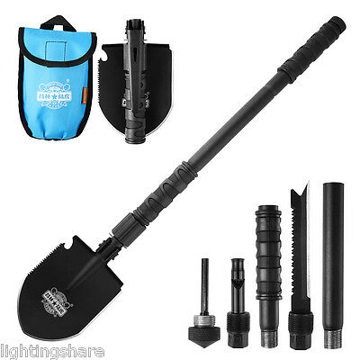 Multi-function Camping Shovel Folding Military Outdoor Survival Portable Spade