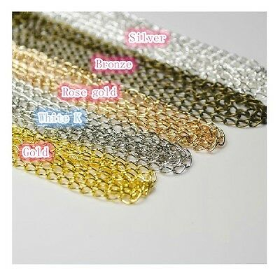 New Extension Chain Tail Links Jewellery Findings necklace Tail 5 colors  10ft