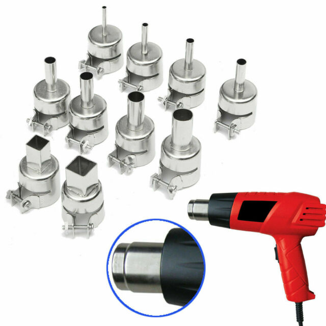 10pcs Heat Gun Nozzle Kit for 850 852 Soldering Station Accessory