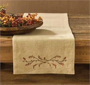 Details About Burlap And Bittersweet 36 Inch Table Runner