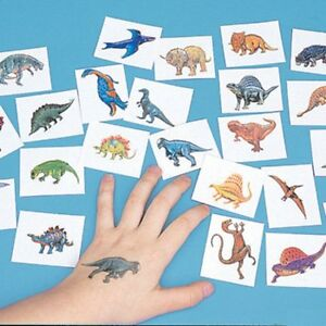 Image Is Loading 72 DINOSAUR TATTOOS Temporary Kids DINO Birthday Party