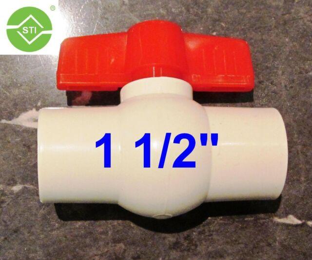 """PVC BALL VALVE 1 1/2""""(40mm) Solvent Slip End"""