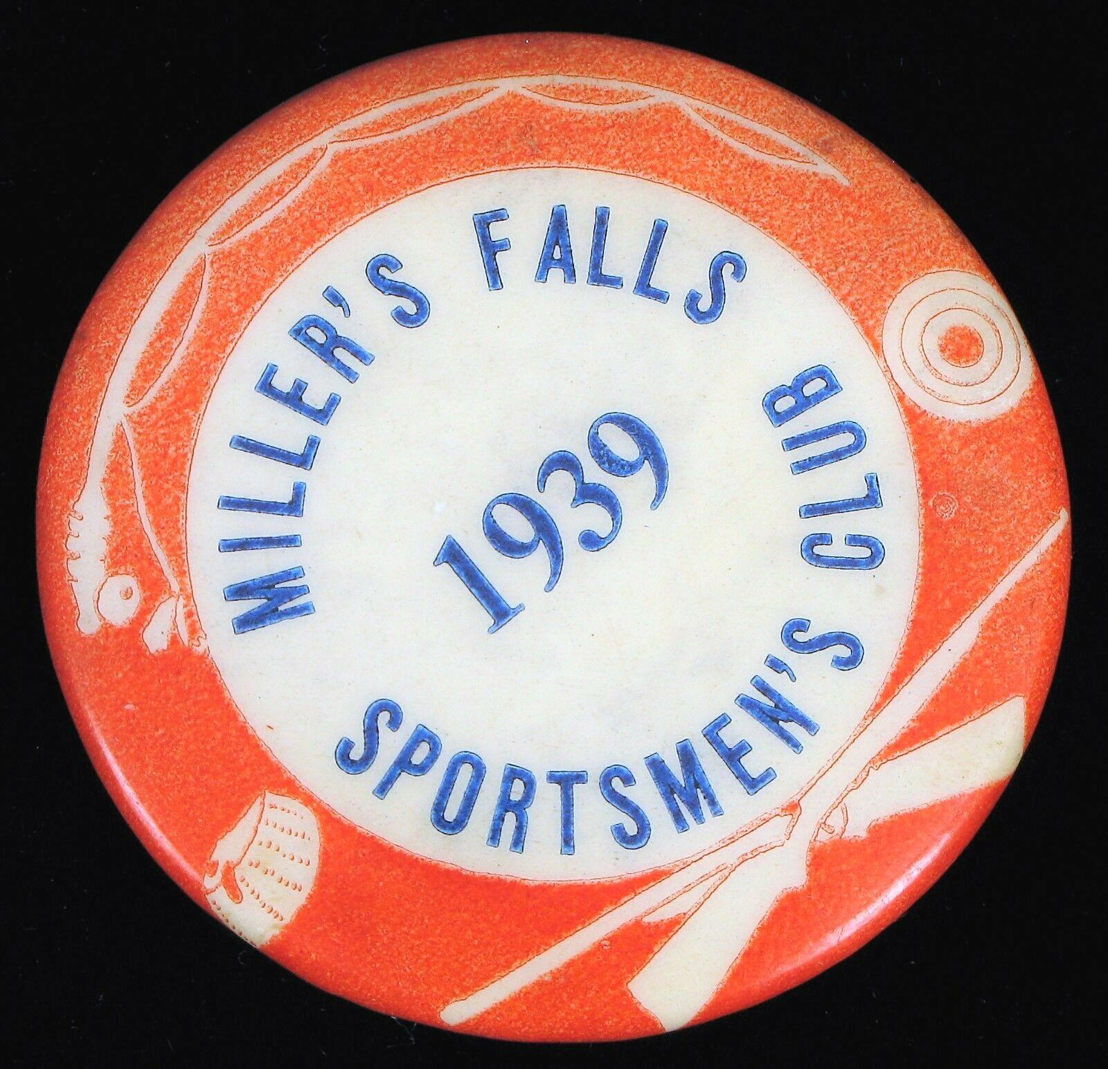 1939 MILLER'S Cataratas Deporteshombres Palo Aire Libre Wildlife Caza Pin Flyfishing