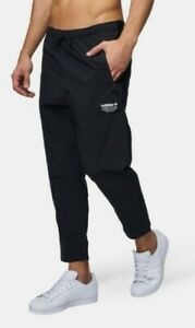 Details about adidas Mens Track Pants Black Cropped BS2587 NMD Size 2xl Slim Fit White