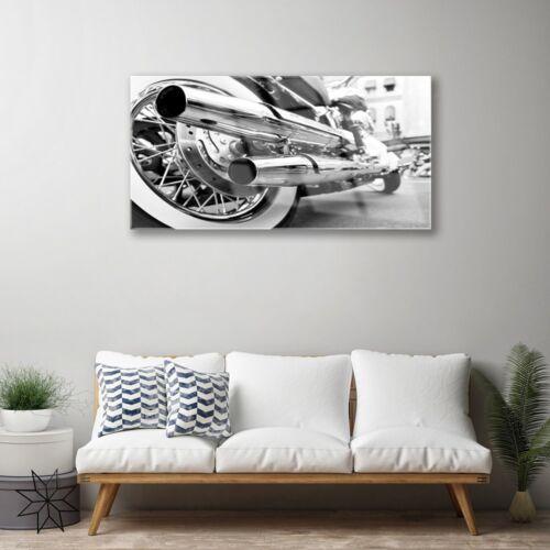 Glasbilder 100x50 Wandbild Druck auf Glas Motorrad Kunst