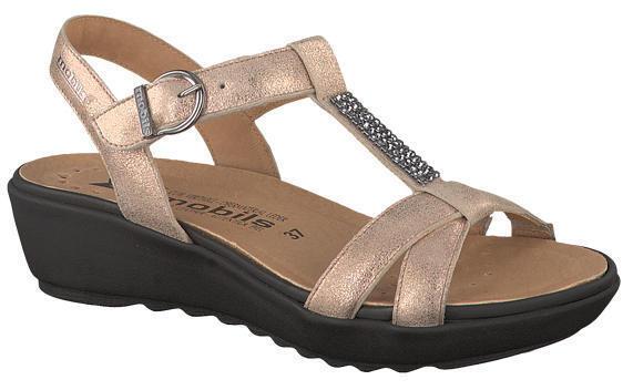 Señoras Mephisto Felizia desnuda acabado Metálico Sandalias UK Size 4 & 5 (y 38)