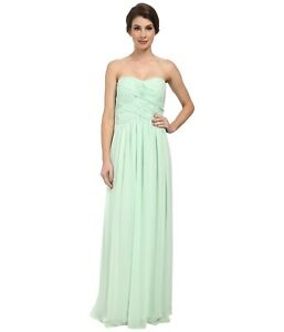 195fbde6ded89 Image is loading Donna-Morgan-Audrey-Long-Strapless-Chiffon-Dress-Sz-