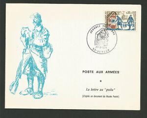 1971 Journée Du Timbre Oblit. Verdun Postes Aux Armées La Lettre Au Poilu /l1934