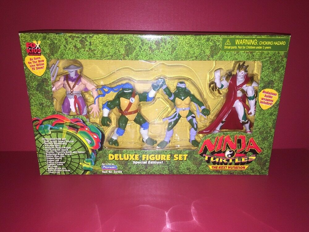 Ninja Turtles Next Mutation Deluxe Figure Set Of 4 TMNT NEW 1997 Venus Leonardo