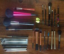 Huge Make-Up Brush Lot ~Sigma Sephora Mac Laura Mercier Elf Real Techniques EUC