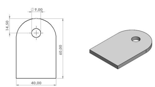 Anschweißlasche Edelstahl 4mm Ankerplatte Lasche Anschweisslasche Gelasert