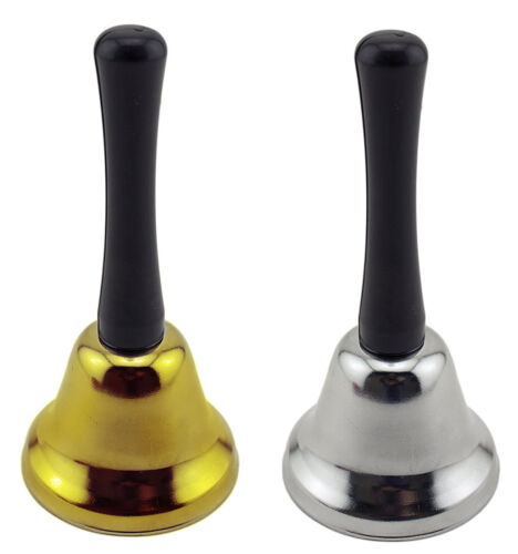 Hand Held Steel Bell Hotel Jingle Call School House Bell Alarm Maid Service Bell