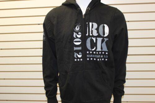 Brooks Men/'s Rock And Roll Marathon Series Savannah Fleece Zip Hoodie Black