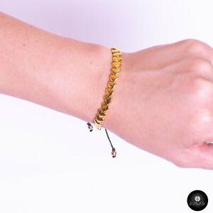 Kavak - Handmade Golden Hearts Adjustable Women's Bracelet