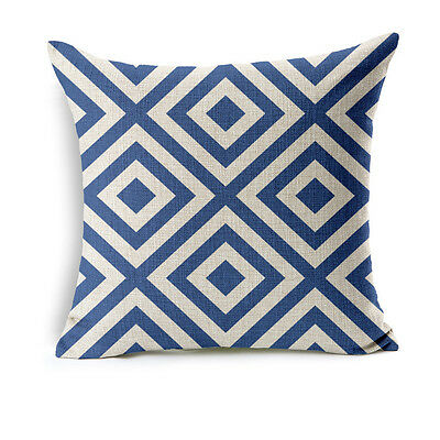 Simple Geometry Cotton Linen Pillow Case Sofa Throw Cushion Cover Home Decor