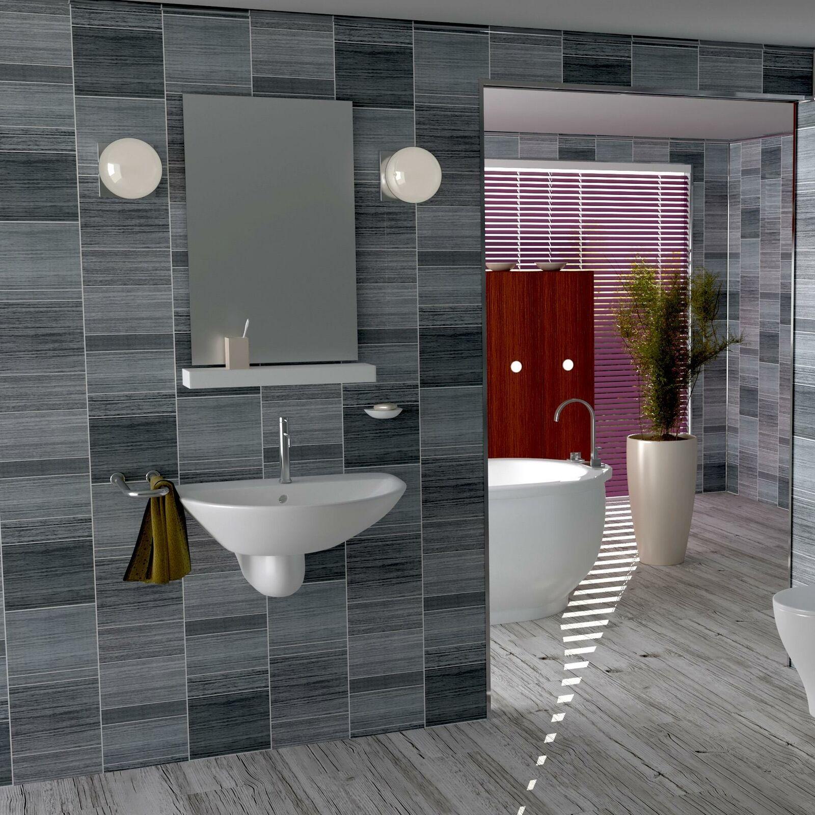 executive grey tile effect bathroom cladding panels wet