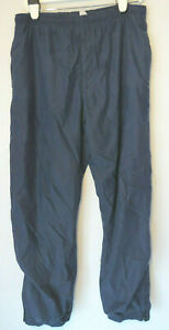 Men-039-s-NAVY-BLUE-TRACK-Lined-PANTS-Elastic-Waistband-and-CUFFS-size-Large-L
