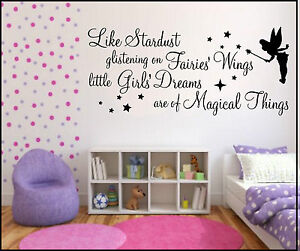 Image Is Loading WALL ART STICKERS QUOTES STARDUST GLISTENING FAIRY GIRLS