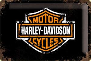 Harley-Davidson-Insignia-Ls-con-Relieve-Acero-Signo-300mm-X-200mm-Na