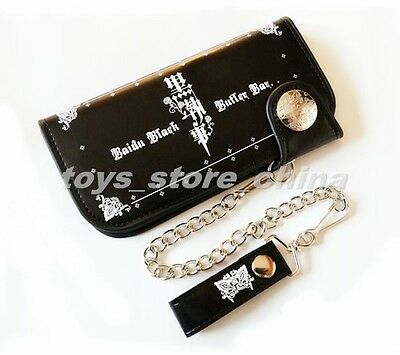 Anime Black Butler Kuroshitsuji Long Wallet Student Toy Unisex Black New In Box