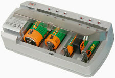 NiCd NiMH Battery Charger AA AAA C D PP3 9V Test Function 1-4 Batteries 690.157