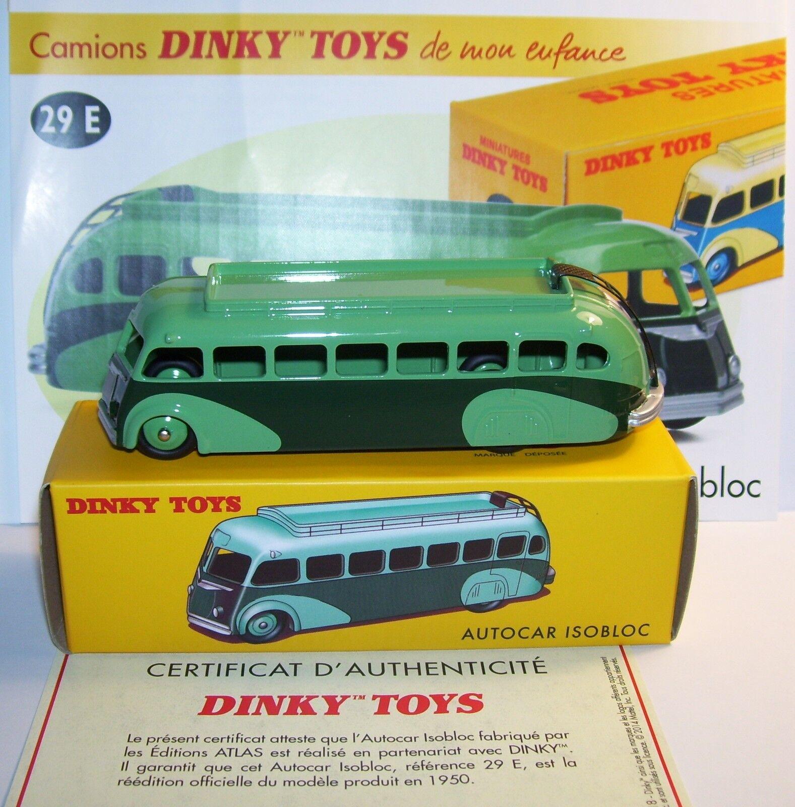 DINKY TOYS ATLAS BUS ISOBLOC GREEN BICOLOUR REF 29E IN BOX