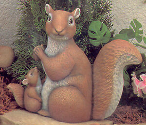 Squirrel on Tree Stump *Ceramic Bisque Ready to Paint