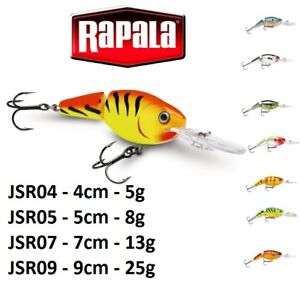 Rapala-Jointed-Shad-Rap-Suspending-Fishing-Lure-4cm-9cm-5g-25g-Various-Colours