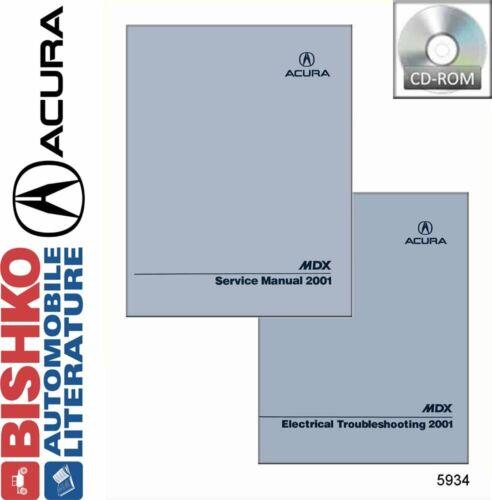 Bishko OEM Digital Repair Maintenance Shop Manual CD for Acura Mdx 2001