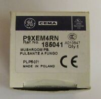 General Electric Ge P9xem4rn Red Mushroom Push Button Cema Momentary Operator