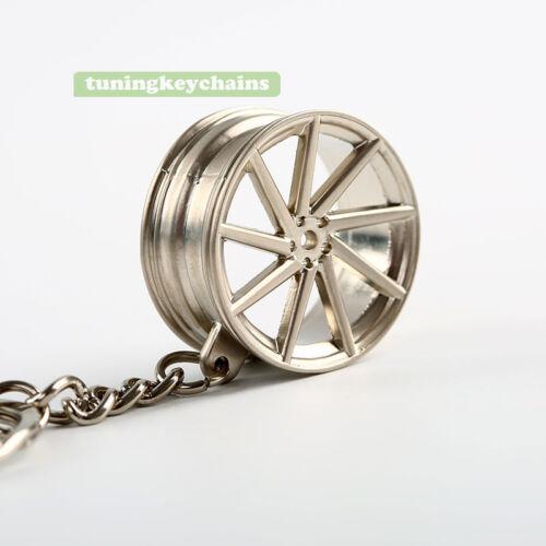 Alloy Car Sport Wheel Rim Keychain Key Chain Keyring Pendent CVT Design JDM