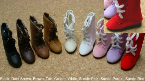 47mm SUEDE PINK Lace up Boots DOLL Shoes