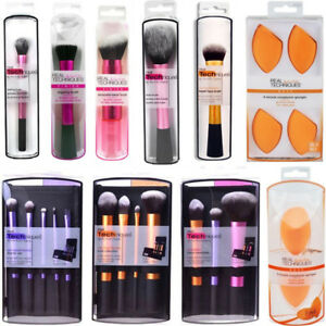Real-Techniques-Makeup-Brushes-Sculpting-Powder-Blush-Foundation-Sponge-Puff-Set