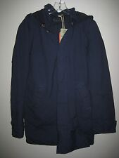 ($375) NWT DEUS EX MACHINA JACKET SIZE LARGE BLUE DUCHAMP COAT PARKA NAVY HOOD