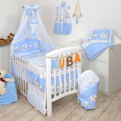 Babybettwäsche Set 135x100cm Nestchen Himmel Bettbezug f Bett 120x60cm 10 tlg