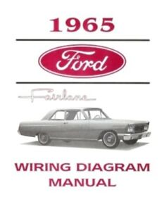 FORD 1965 Fairlane Wiring Diagram Manual 65 | eBay